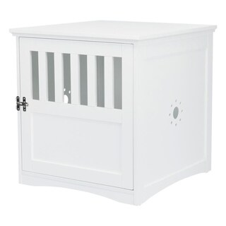 Coffee Table Style Dog Crate (white)