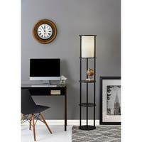 Adesso Stewart Shelf Floor Lamp