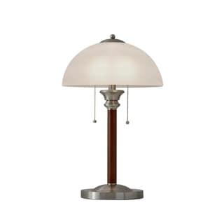 Adesso Lexington Walnut Table Lamp