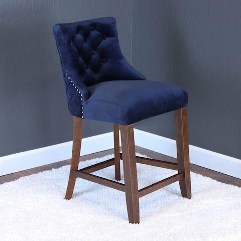 Lemele Velvet Counter Chairs (Set of 2)