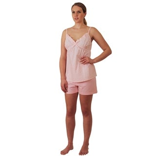 Womens Cotton Baby doll Nightgown w shorts Pajama Set