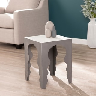 Kima Square Accent Table w/ Marble Top