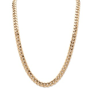 Men's Gold Tone Curb-Link Chain Necklace (10.5mm) 24""