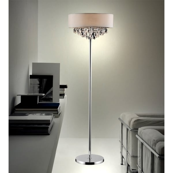 4 Light Floor Lamp With Chrome Finish Free Shipping Today 22702161