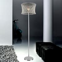 1 Light Floor Lamp with Chrome Finish