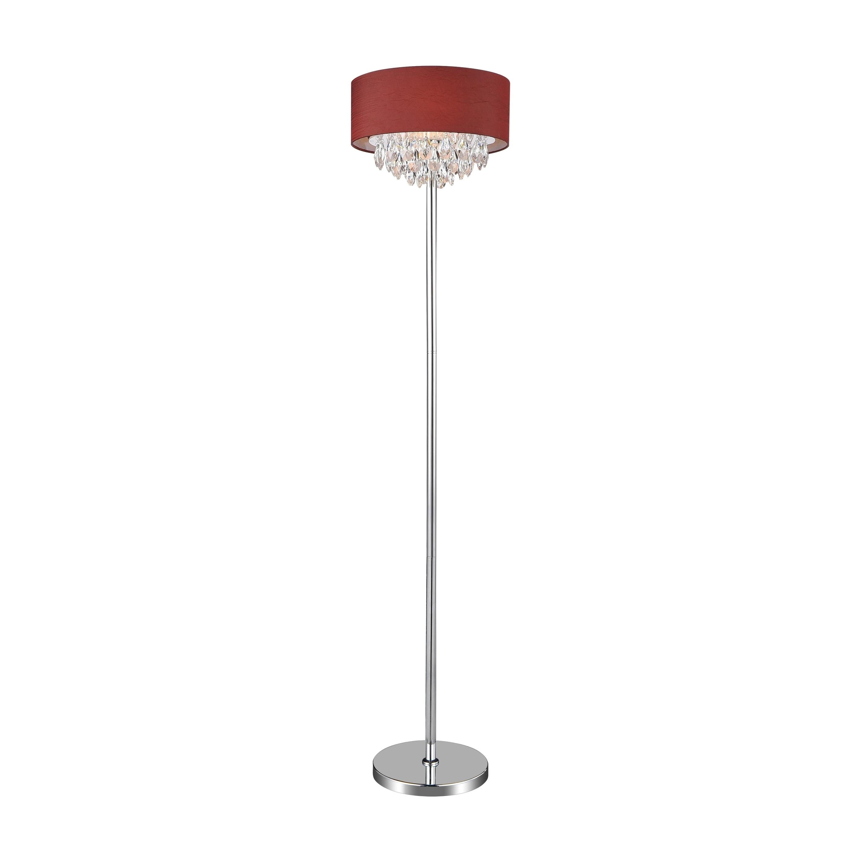 4 Light Floor Lamp With Chrome Finish