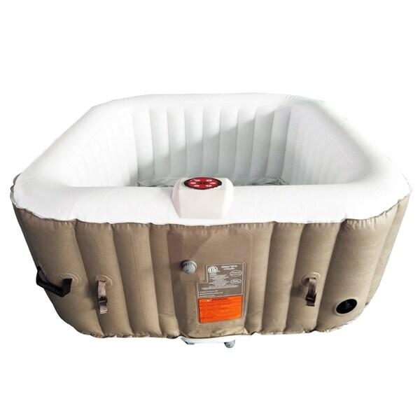 Shop Aleko Square Inflatable Portable Hot Tub Personal Spa 4 Person