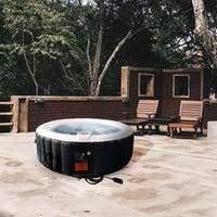 ALEKO Round Inflatable Hot Tub With Cover 6 Person 265 Gallon
