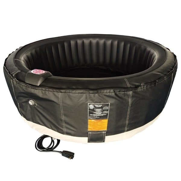 ALEKO Round Inflatable Hot Tub With Cover 6 Person 265 Gallon Black