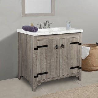 2 Door Vanity Sink  with Faux Marble Top