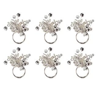 Design Imports Multi-Beaded Kitchen Napkin Ring Set (Set of 6)