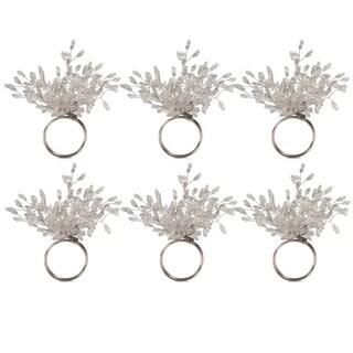 Design Imports Beaded Burst Kitchen Napkin Ring Set (Set of 6)