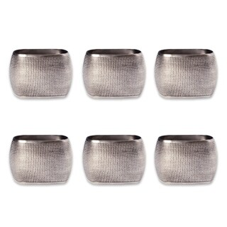 Design Imports Textured Square Kitchen Napkin Ring Set (Set of 6)