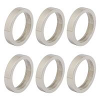 Design Imports Silver Circle Napkin Ring Set (Set of 6)