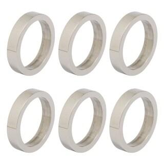 Design Imports Silver Circle Napkin Ring Set (Set of 6)