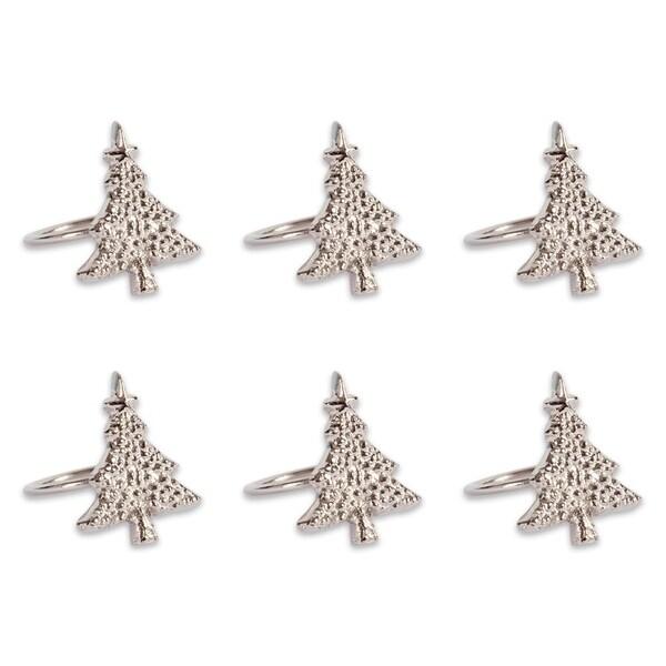 Christmas Ring.Shop Design Imports Christmas Tree Napkin Ring Set Set Of 6 Free