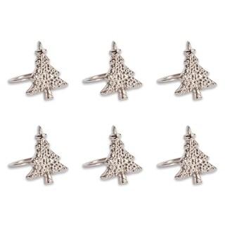 Design Imports Christmas Tree Napkin Ring Set (Set of 6)