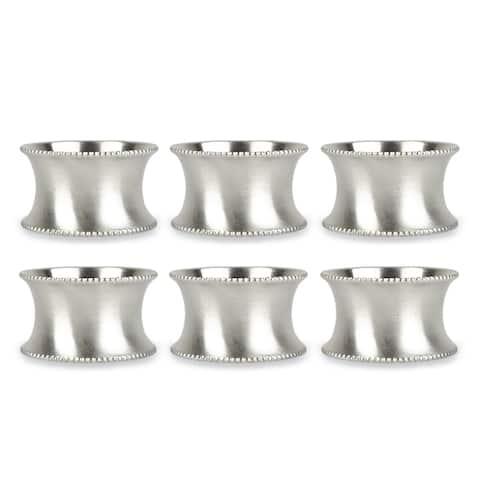 Design Imports Beaded Kitchen Napkin Ring Set (Set of 6)