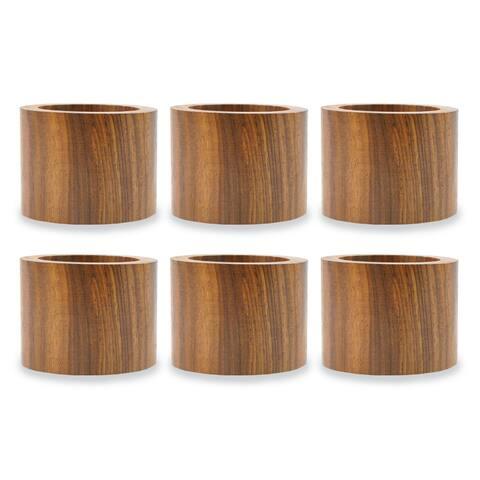 Design Imports Wood Band Napkin Ring Set (Set of 6)