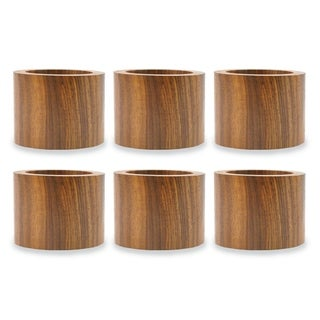 Design Imports Wood Band Napkin Ring Set (Set of 6)