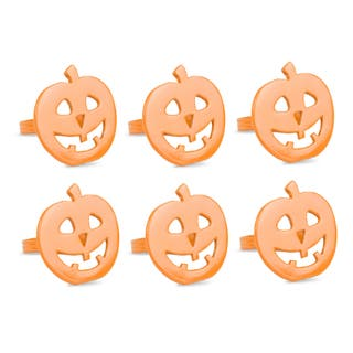 design imports pumpkin napkin ring set set of 6