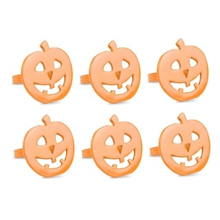 Design Imports Pumpkin Napkin Ring Set (Set of 6)