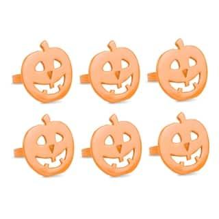 design imports pumpkin napkin ring set set of 6