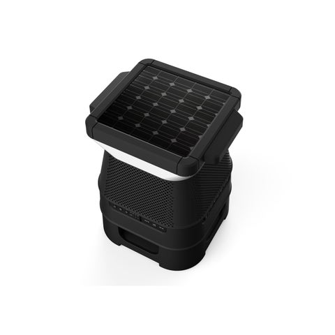 Wireless Bluetooth Speaker with Solar Panel & LED Light - N/A