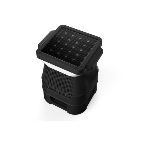 Wireless Bluetooth Speaker with Solar Panel & LED Light