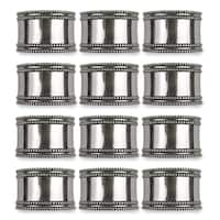 Design Imports Silver Band Napkin Ring Set (Set of 12)