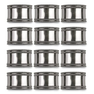 Design Imports Silver Band Napkin Ring Set (Set of 12)