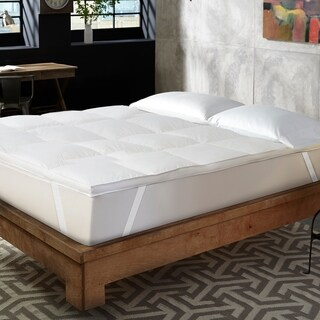 Hotel Laundry 1.5 inch Hotel Style Feather & Down Alternative Blend Feather Bed with Anchor Bands