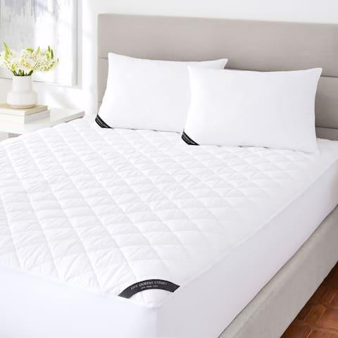 Five Queens Court Excellence 233 TC Cotton Top Allergen Barrier Waterproof Mattress Pad - White