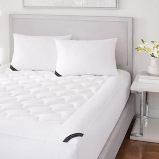 Five Queens Court Elegance 233 TC Cotton Top Allergen Barrier Mattress Pad - White