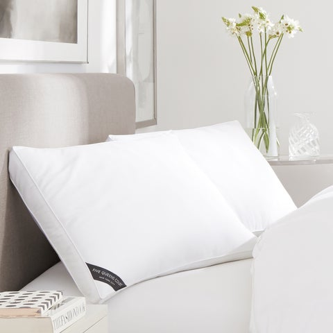 Five Queens Court Elite 300 TC Cotton Sateen Allergen Barrier Down Alternative Pillow - White
