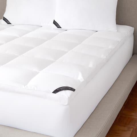 Five Queens Court Elite 300 TC Cotton Allergen Barrier Mattress Topper - White