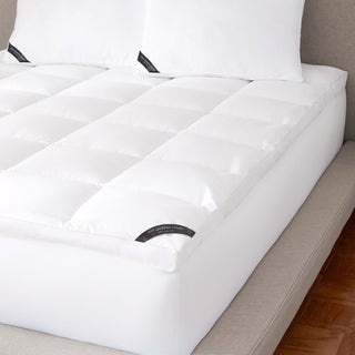 Five Queens Court Elite 300 TC Cotton Allergen Barrier Mattress Topper - White