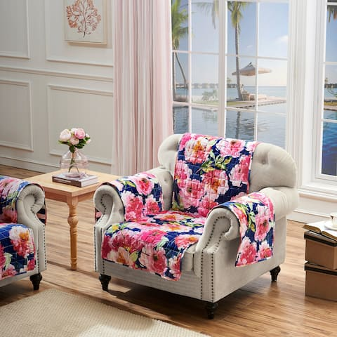 Barefoot Bungalow Peony Posy Armchair Protector