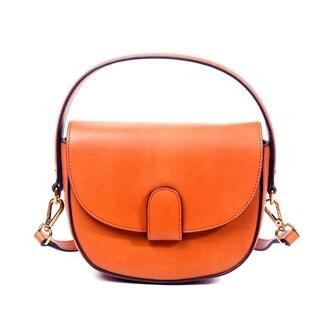 Foressence Alice Saddle Genuine Leather Crossbody Bag