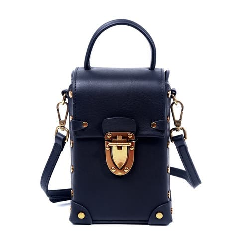 Foressence Lucy Genuine Leather Trunk Crossbody Bag