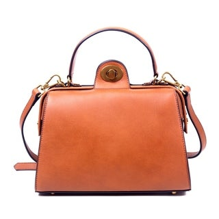 Foressence Lydia Genuine Leather Satchel