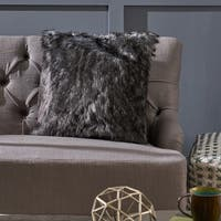 Warrin Furry Glam Faux Fur Throw Pillow by Christopher Knight Home