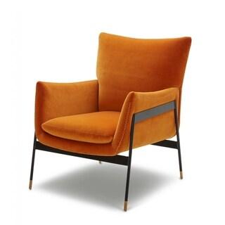 Divani Casa Joseph Modern Orange Fabric Accent Chair