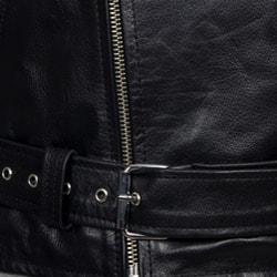 Amerileather Men's Black Leather Biker Jacket - Thumbnail 2