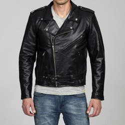 Amerileather Men's Black Leather Biker Jacket|https://ak1.ostkcdn.com/images/products/22708/Amerileather-Mens-Black-Leather-Biker-Jacket-P906227b.jpg?impolicy=medium