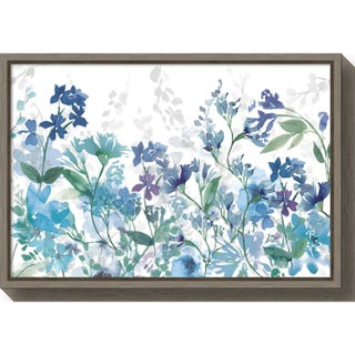 Canvas Art Framed 'Colors of the Garden Cool Shadows' by Wild Apple Portfolio