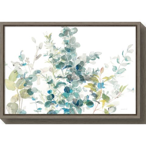 Canvas Art Framed 'Eucalyptus I White Crop' by Danhui Nai