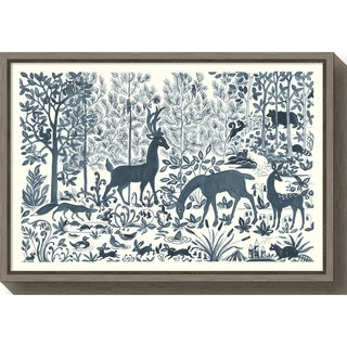 Canvas Art Framed 'Forest Life I' by Miranda Thomas