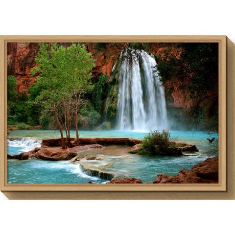 Canvas Art Framed 'Havasu Falls' by Andy Magee