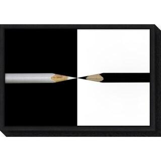 Canvas Art Framed 'opposed' by Udo Dittmann